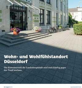 """Leitartikel """"Wohn- und Wohlfühlstandort Düsseldorf"""" IHK-Magazin für Düsseldorf und den Kreis Mettmann, Ausgabe 08/2015"""